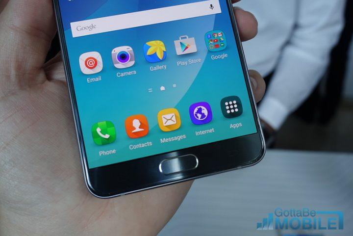 Galaxy Note 5 fingerprint