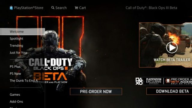 You need your PS4 Black Ops 3 beta token to start.
