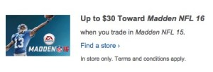 Madden 16 Deal - Madden 15 trade in value deal - 1