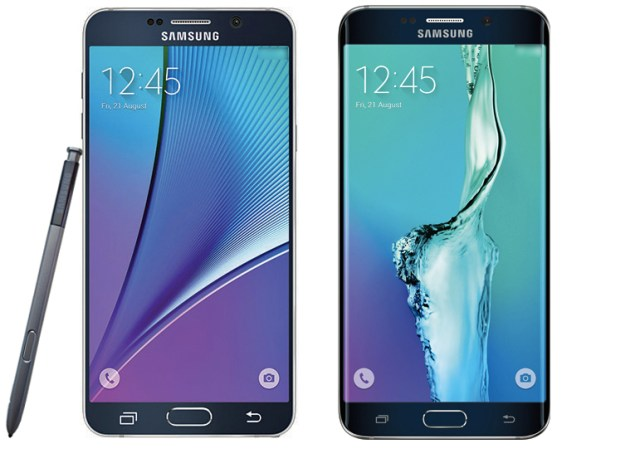 Galaxy Note 5 and Galaxy S6 Edge+, courtesy of Evleaks.