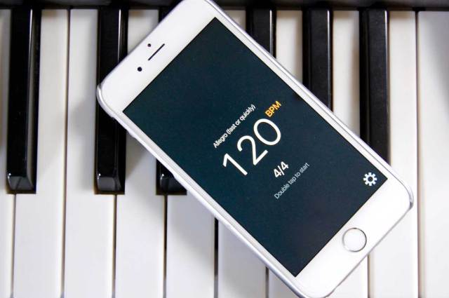 Taptronome is an iPhone metronome app that works with one hand and is also VoiceOver compatible.