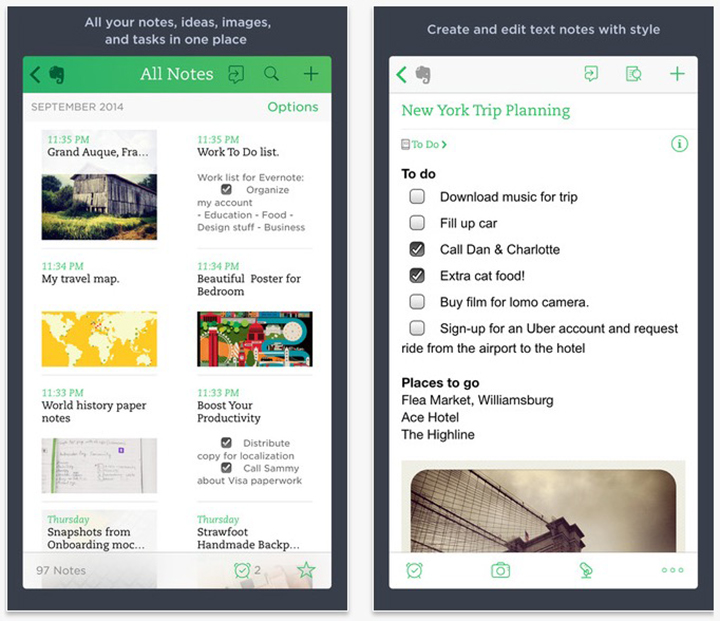 Google Keep vs Evernote: Which iPhone App Should You Use
