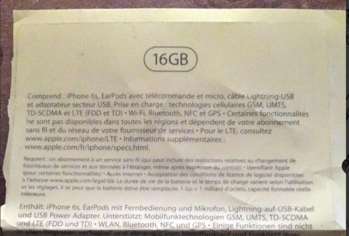 iPhone 6s Storage Options