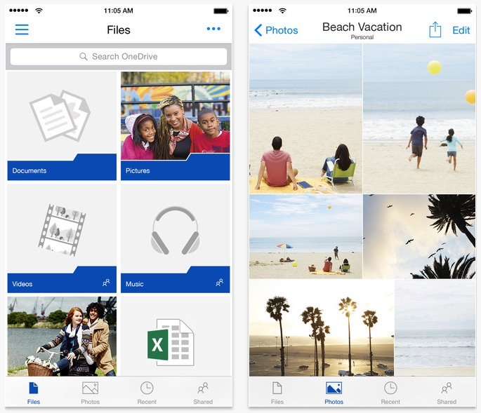 OneDrive for iPhone