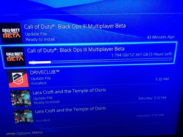 Some users are experiencing slow PS4 Black Ops 3 beta downloads.
