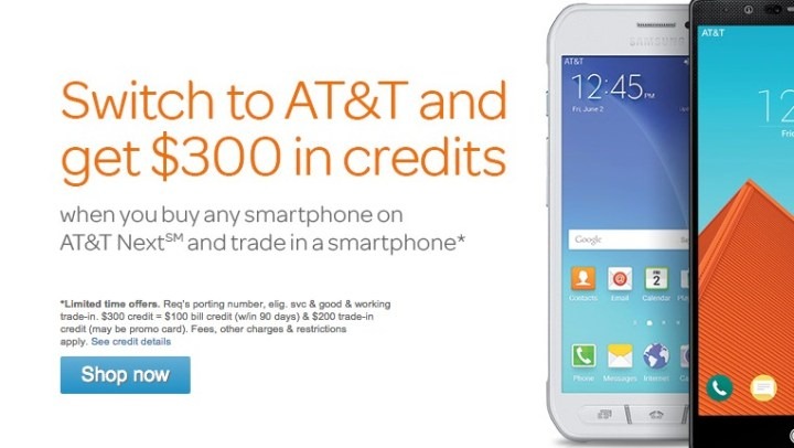 Take advantage of an AT&T switch credit to save.