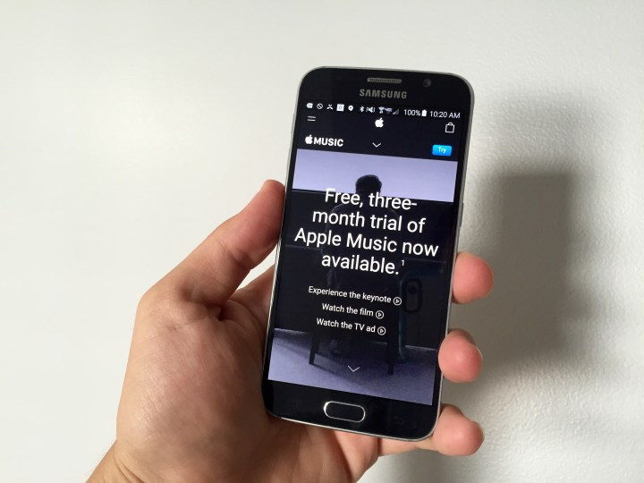 apple music login android