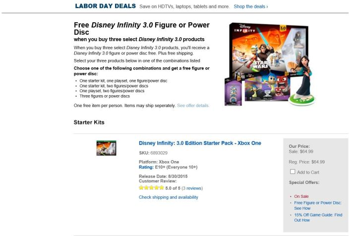 Disney Infinity Best Buy Deal