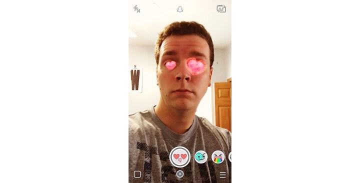 In Love Snapchat Lens