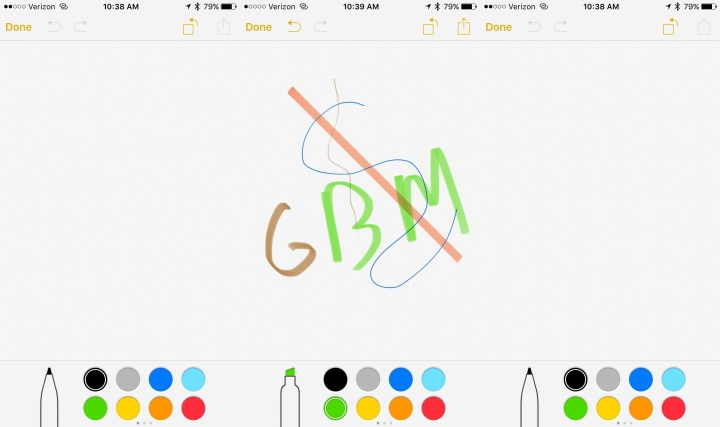 Draw in Notes on iOS 9.