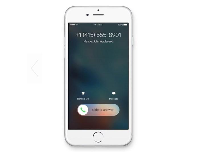 iOS 9 tips -- unknown caller
