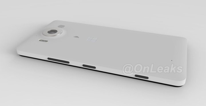 Leaked renders of the Lumia 950, shared by Evleaks.