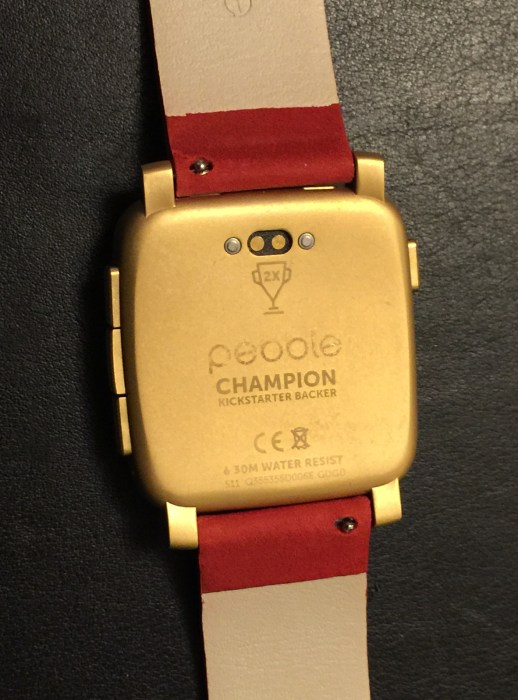 pebble time steel back