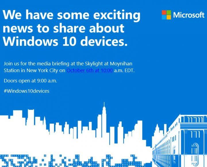 windows 10 devices event