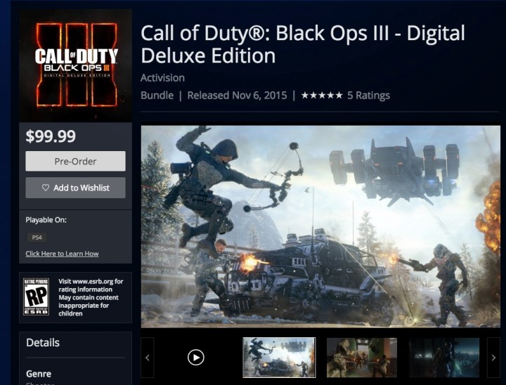 PC, Xbox One And PS4 Black Ops 3 Digital Downloads
