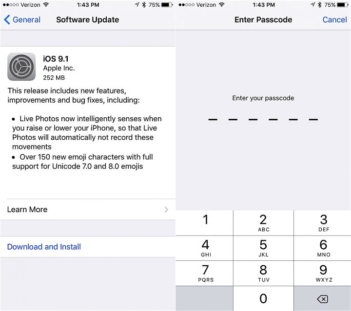 How to Install iOS 9.1 Update - 2
