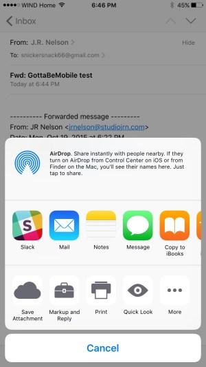 Saving attachments in iOS 9.