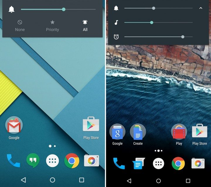 Android 5.1 vs Android 6: Volume Controls
