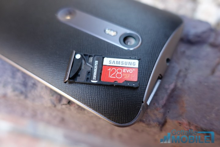 SIM slot doubles as a micro-SD tray to increase storage