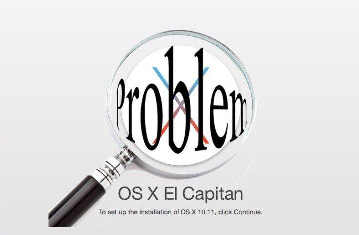 OS X El Capitan Problems