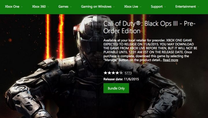 Xbox One Black Ops Pre-Load & Pre-Order Issues