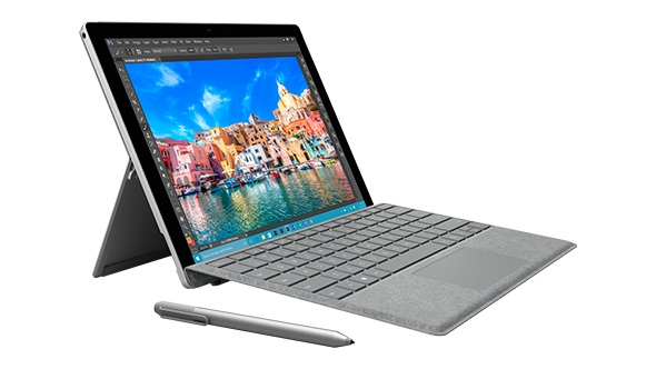 The Surface Pro 4 with Alcantara fabric.