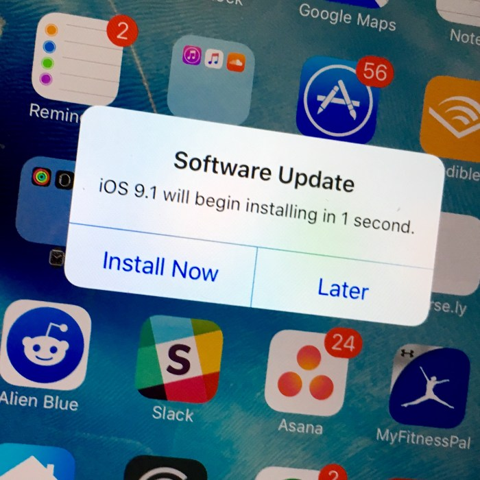 Prepare Your Device for iOS 9.1