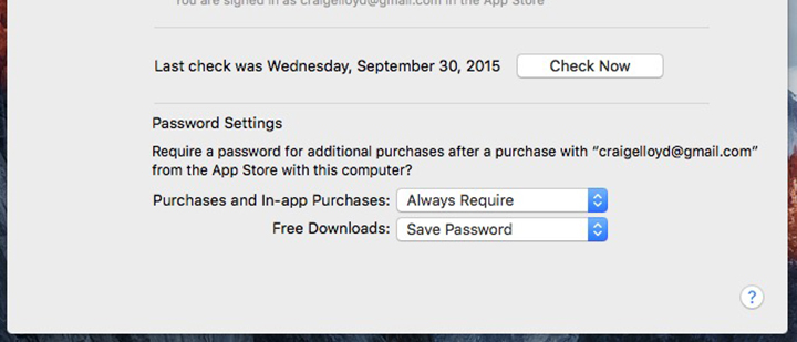 Save Your Password in the Mac App Store