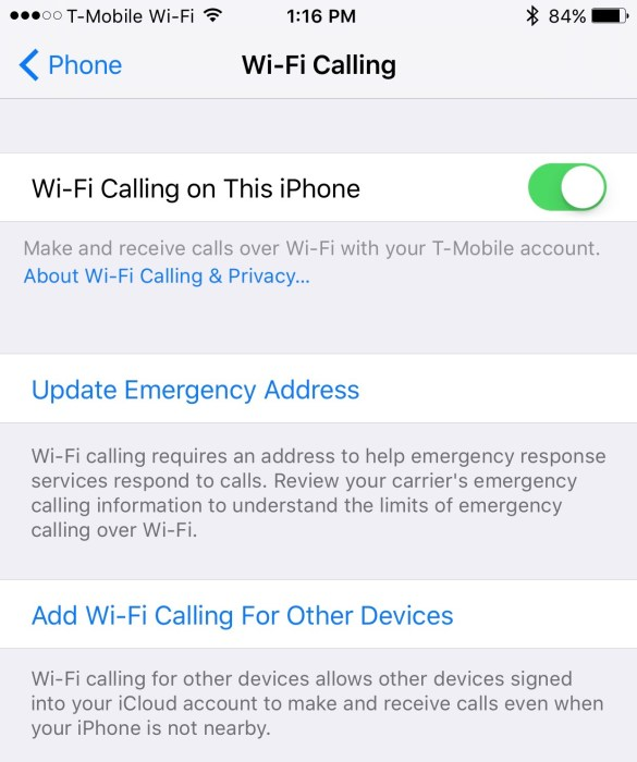 wi-fi calling iphone