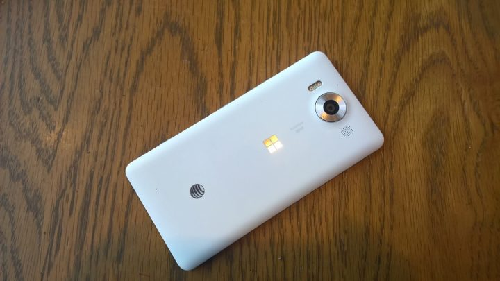 The Microsoft Lumia 950.
