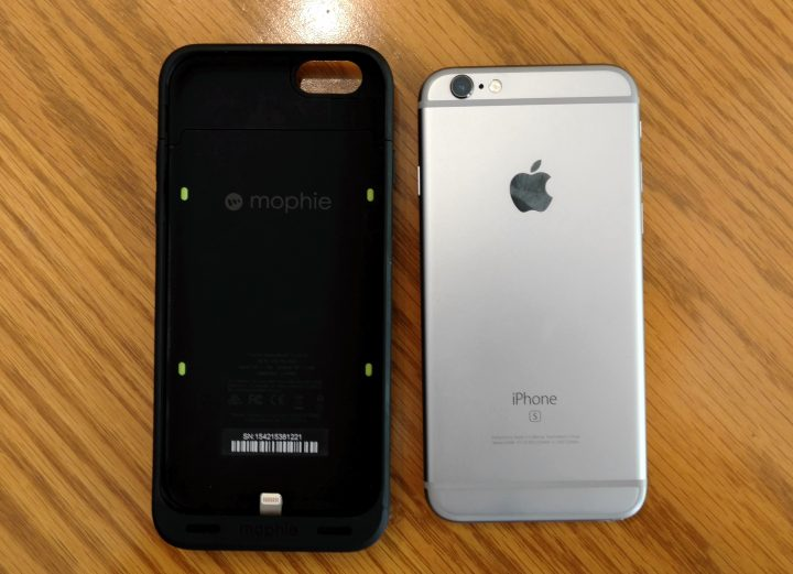 It's easy to slide the Mophie Juice Pack Reserve iPhone 6s battery case on and off, but you can leave it on all the time.