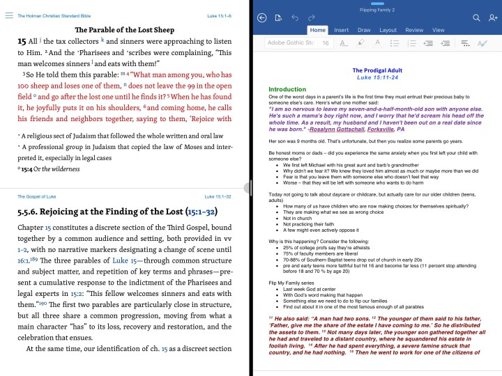 iOS 9's Side-by-side feature works better on the large 12.9-inch iPad Pro.