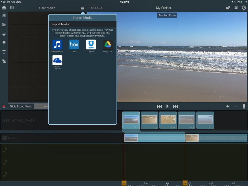 pinnacle studio pro for ipad
