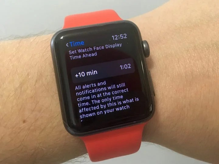 Set Your Apple Watch 10 Minutes Fast