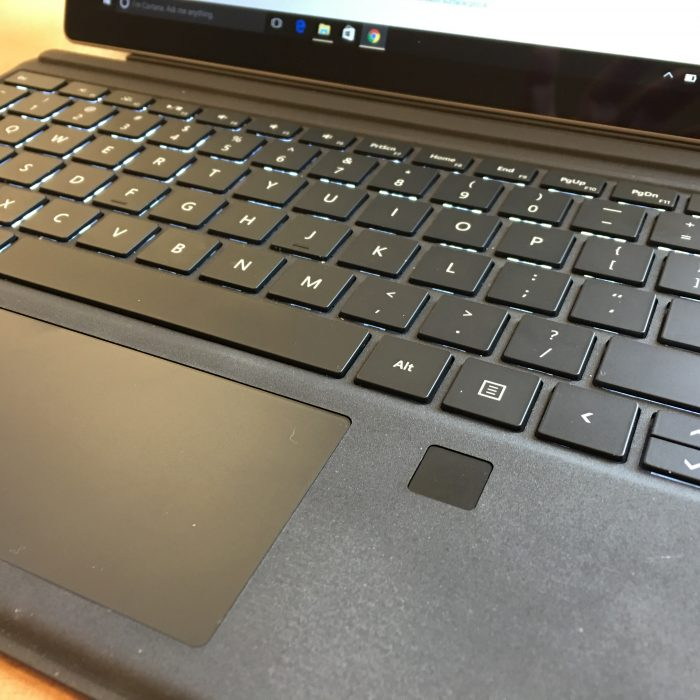 microsoft surface pro 4 type cover with fingerprint reader