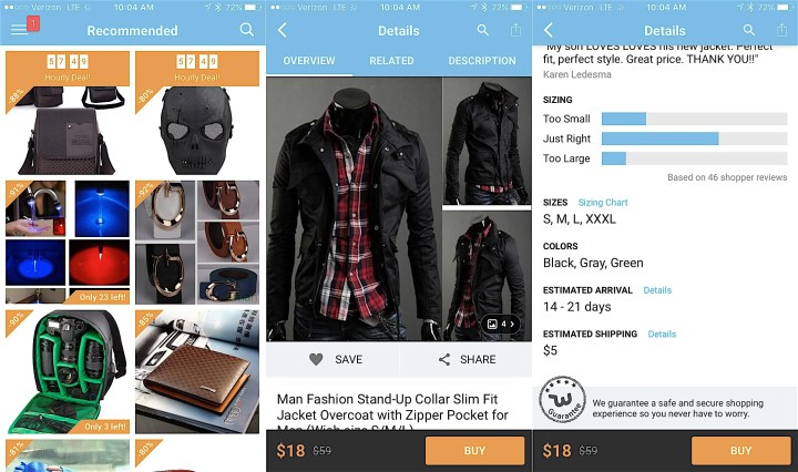 You can buy all kinds of things in the Wish app.