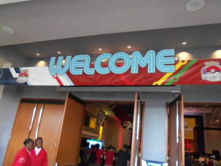 The entrance to the Pokemon World Championship.