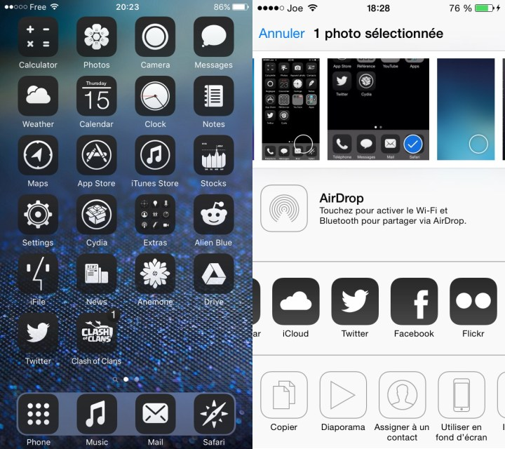0bscure 7 iOS Theme