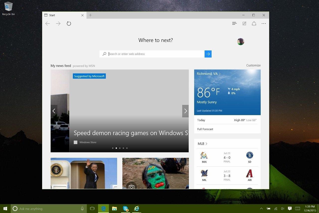 how to change default homepage in internet explorer windows 10