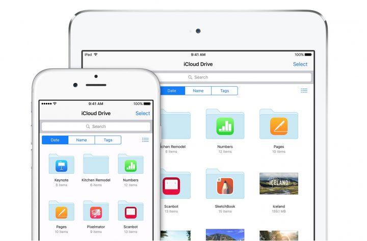 iCloud Drive on iOS.