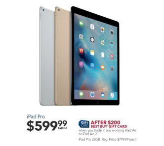 iPad Pro Deal Best Buy