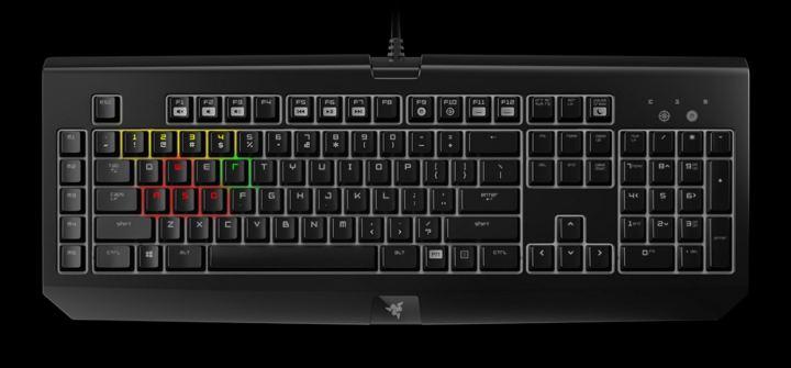 Razer's BlackWidow mechanical gaming keyboard.