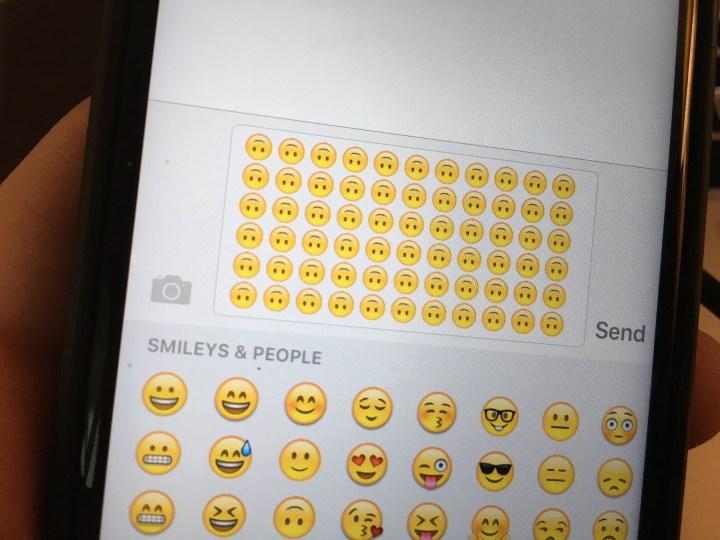 upside down emoji smile