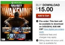 Awakening Xbox One Black Ops 3 DLC Release Time