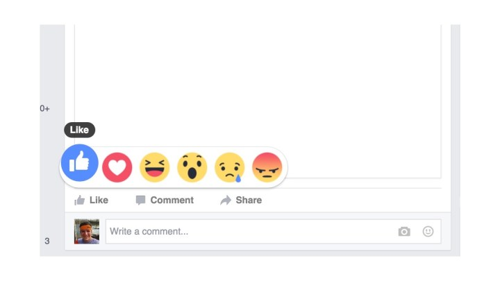 Facebook Like Reaction