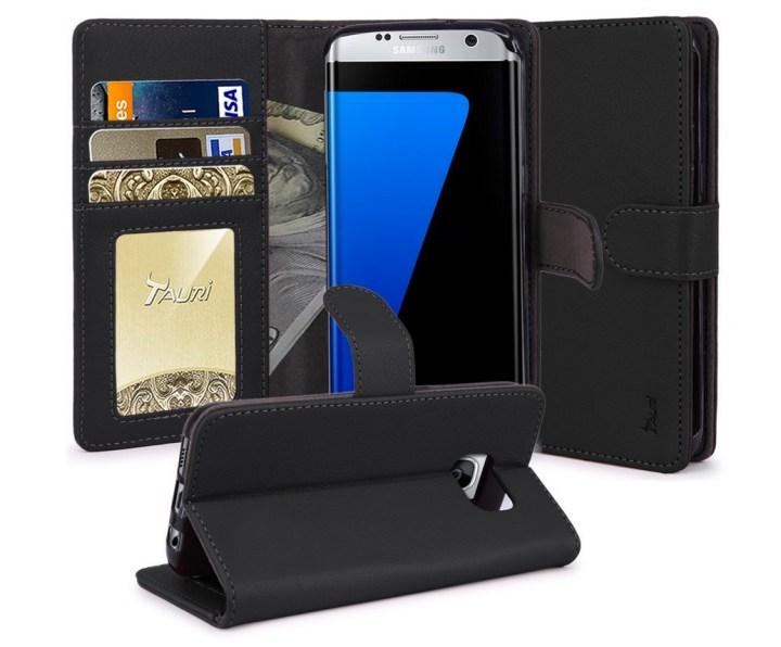 Tauri Galaxy S7 Edge Wallet Case & Kickstand