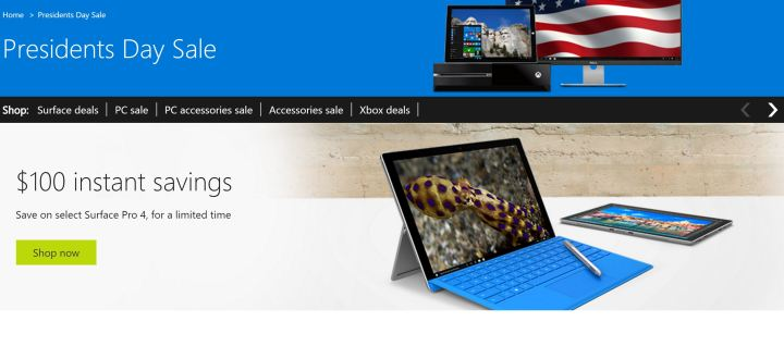 surface pro 4 price cut