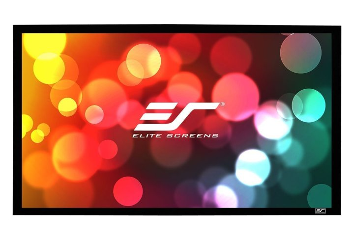 An example projector screen from Elite Screens.