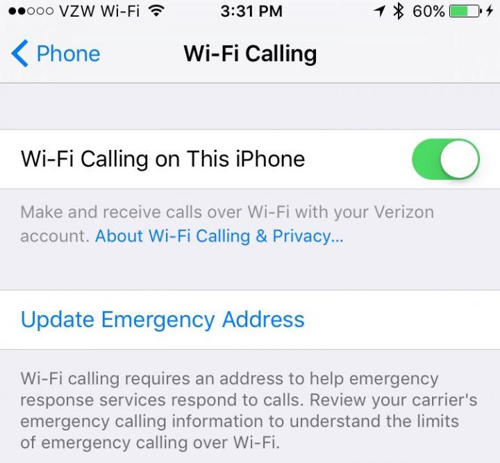 verizon iphone wifi calling how to turn on verizon wifi calling on iphone 16401