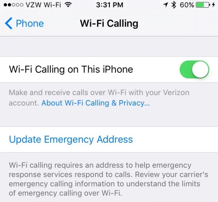 iphone wifi calling verizon how to turn on verizon wifi calling on iphone 6735